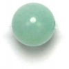 Semi-Precious 8mm Round Green Candy Jade